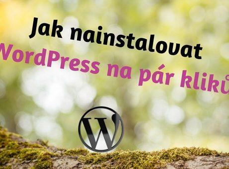 Jak nainstalovat WordPress na pár kliků
