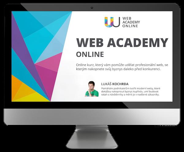 Web academy online - obrazovka